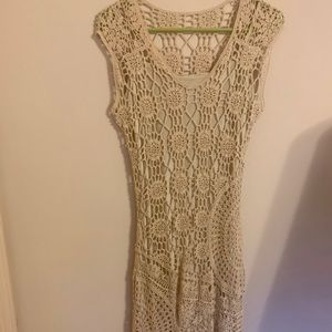 Vintage Speigel cream lace dress